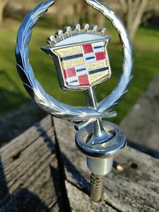 Vintage Unknwn Cadillac Hood Ornament Exclnt Cond Rare Use Pics To Decide Fit 02