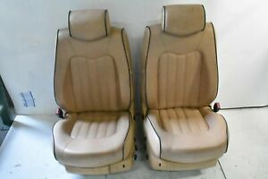 07 Maserati Quattroporte Sport Gt M139 Front Left And Right Seats Assembly Tan