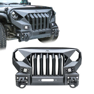 Hunter Jeep Angry Bird Front Bumper With Winch Plate For 07 17 Jeep Wrangler Jk
