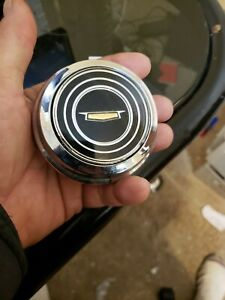 Vintage 1960 S Chevy Horn Cap Looks New