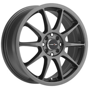 4 Vision 425 Bane 16x7 5x4 5 5x120 38mm Gunmetal Wheels Rims 16 Inch