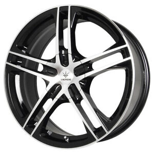 15 Inch Verde V36 Protocol 15x7 5x115 5x100 40mm Black Machined Wheel Rim