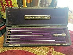 Vintage Brown Sharpe Mfg Co machinists Inside Micrometer Set