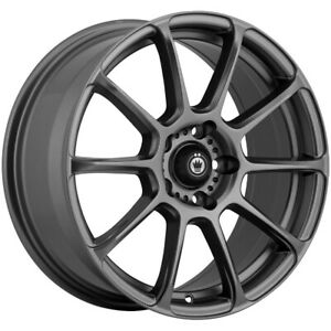4 Konig 41mg Runlite 16x7 5 5x4 5 45mm Matte Grey Wheels Rims 16 Inch