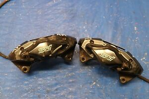 2014 Subar Impreza Wrx Sti Sedan Oem Brembo Lh Rh Rear Brake Calipers 2477