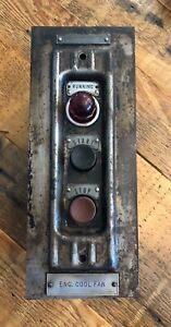 Vtg Westinghouse Push Button Switch Ww2 Curtiss Wright Antique Industrial B52 Hd