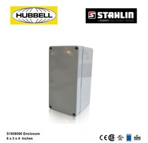 Hubbell S1608090 Electrical Enclosure Box 6x3x4 Polycarbonate Watertight 4x