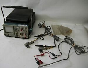 Tektronix 314 Storage Oscilloscope With Probes And Cover