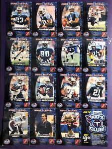 2001 Tennessee Titans Kroger/Coca-Cola Football Cards uncut sheet 15 cards