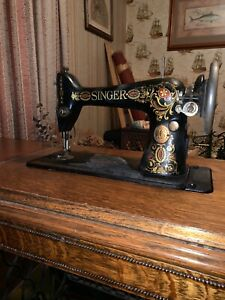 Antique Singer Sewing Machine Early 20th Century