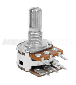 Alpha 100k Ohm Dual Mn taper Blend balance Potentiometer Center Click usa Stock