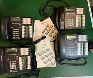 Lot Of 4 Nortel Networks bellsouth T7316e Office Business Telephones Charcoal