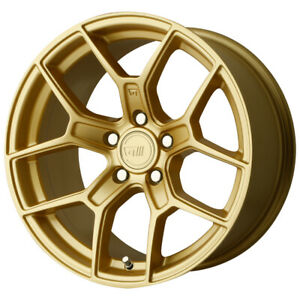 4 motegi Mr133 17x8 5 5x112 45mm Gold Wheels Rims 17 Inch