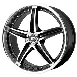4 motegi Mr107 17x7 5 5x110 45mm Black machined Wheels Rims 17 Inch