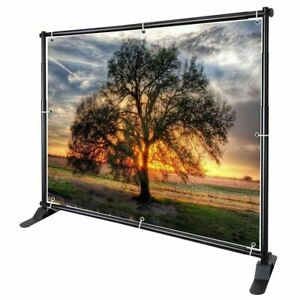 8x10 Adjustable Step And Repeat Telescopic Banner Backdrop Stand Tradeshow New