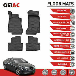 Floor Mats Liner 3d Molded Black For Cadillac Ats 2013 2016