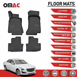 Floor Mats Liner 3d Molded Black For Cadillac Cts 2014 2018