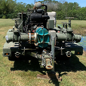 Military Fuel Or Water Pump 600gpm 6 And 4 Inlet And Discharge
