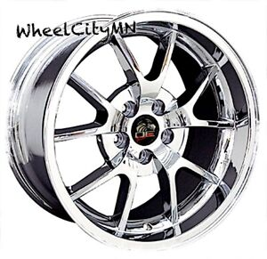 18 X9 Inch Chrome Ford Mustang Fr500 Oe Replica Wheels Fits 1994 2004 5x4 5 24