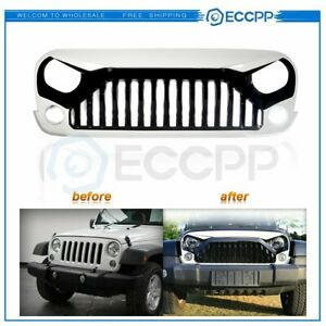 For Jeep Wrangler Jk 07 18 1x Front Angry Bird Hydro White Pbj Black Grille Hood