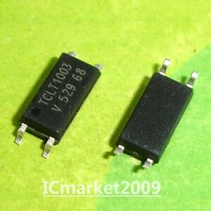 50 Pcs Tclt1003 Sop 4 Tclt 1003 Smd 4 Optocoupler With Phototransistor Output