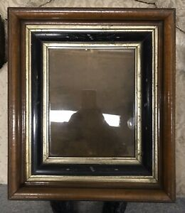 Antique Walnut Deep Well Wood Picture Frame Fits 8 By 10