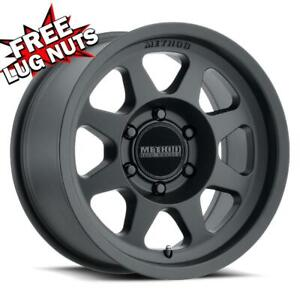 17 Inch 17x7 5 Method Mr701 Black Wheels 5x6 3 5x160 50