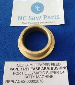 O s Paper Feed Paper Release Arm Bushing For Hollymatic Super 54 Patty Machine