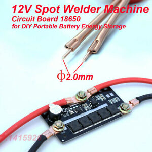 Diy Portable 12v Battery Energy Storage Spot Welder Machine Circuit Board 18650