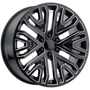 4 Replica 197m Gmc Chevy 20x9 6x5 5 24mm Black Milled Wheels Rims 20 Inch