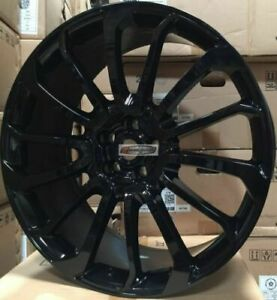 24 Autobiography Style Wheels Gloss Black Rims Tires Fit Range Rover Hse Sport