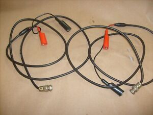 Pair Belden 8262 Oscilloscope Cables Probe Wire Cable W Alligator Clips 4ft B