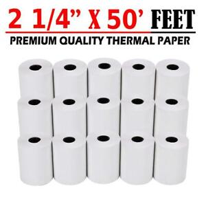100 Roll 2 1 4 X 50 Ft Thermal Receipt Paper Pos Credit Card Cash Register