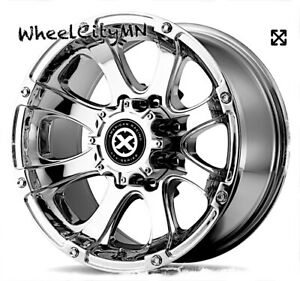 16 Inch Chrome Pvd American Racing Ledge Wheels Fits Chevy Express 2500 8x6 5