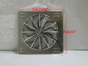 21 X 19 Universal Radiator Fan Shroud And 16 Chrome Fan 2600cfm