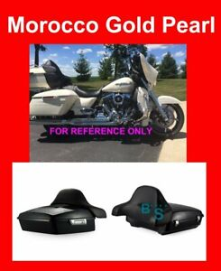 Morocco Gold Pearl Tour Pak Backrest For Harley Street Electra Road 2014