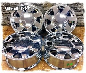 17 Inch Chrome Cadillac Dts Oe Replica Wheels 2011 2010 2009 2008 2007 5x115 50