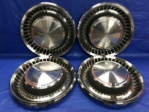 Vintage Set Of 4 1970 Chrysler 300 15 Hubcaps Good Condition