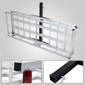 60 X 22 Aluminum Hitch Mount Cargo Carrier Truck Luggage Basket Rack 500lbs