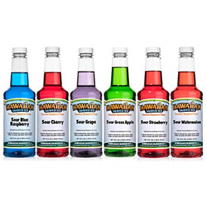Hawaiian Shaved Ice Sour Syrup 6 Pack Pints