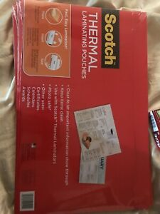 Scotch Menu Size Thermal Laminating Pouches 25 Pouches mmmtp385625