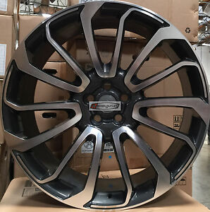 22 Autobiography Style Wheels Gunmetal Rims Fit Range Rover Hse Dicovery Sport