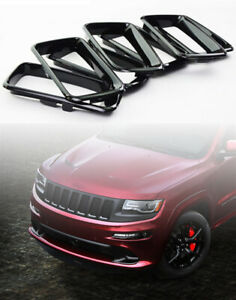 Black Grill Inserts For Jeep Grand Cherokee 2014 2016 Grille Rings Covers
