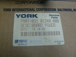 York 031 01348 000 Chiller Control Power Supply Board 1 Year Warranty New