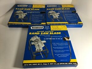 3 Vintage Craftsman Metal Cutting Band Saw Blade Width 3 16 Length 54 26255