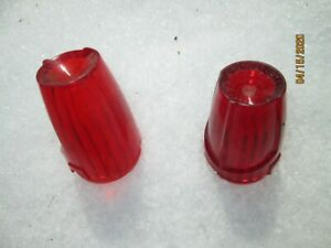 Vintage Signal Stat Dominion Ihc Truck Red Clearance Marker Light Lamp Lens Nos