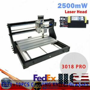 Cnc 3018 Pro Machine Router 3axis Engraving Pcb Metal Diy Mill 2500mw Laser Head