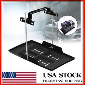 Universal Car Storage Battery Holder Stabilizer Tray Hold Down Clamp Kit Usa
