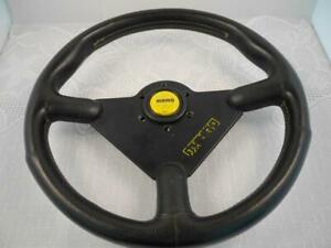 Vintage Italy Momo Sistema Leather Steering Wheel Good Rare A199