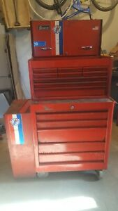 Vintage Snap On Bicentennial Kra Rolling Cabinet Tool Chest And Side Cabinet